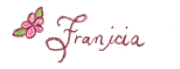 Franicia lettering with colored pencils